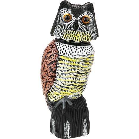 PrimeMatik - Scarecrow owl figure with reflective eyes 40cm female