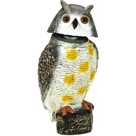 PrimeMatik - Scarecrow owl figure with reflective eyes 40cm male