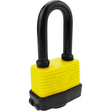 PrimeMatik - Security padlock iron with outdoor protection IP44 50mm