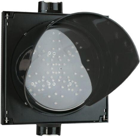 PrimeMatik - Semáforo para interior y exterior IP65 negro de 1 x 200mm de 12-24V con verde-flecha y roja-cruz