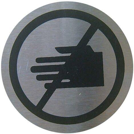 PrimeMatik - Señal prohibido tocar de acero inoxidable de 65mm
