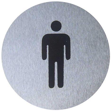 PrimeMatik - Señal WC señores de acero inoxidable de 65mm