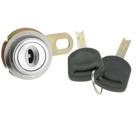 PrimeMatik - Serrure à came batteuse barillet 17mm x M18 avec clé crescent