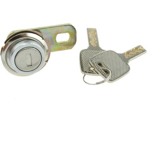 PrimeMatik - Serrure à came batteuse barillet 17mm x M18 avec clé plat