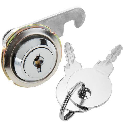 PrimeMatik - Serrure à came batteuse barillet 19mm x M18 avec clé plat