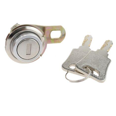 PrimeMatik - Serrure à came batteuse barillet 27mm x M18 avec clé plat