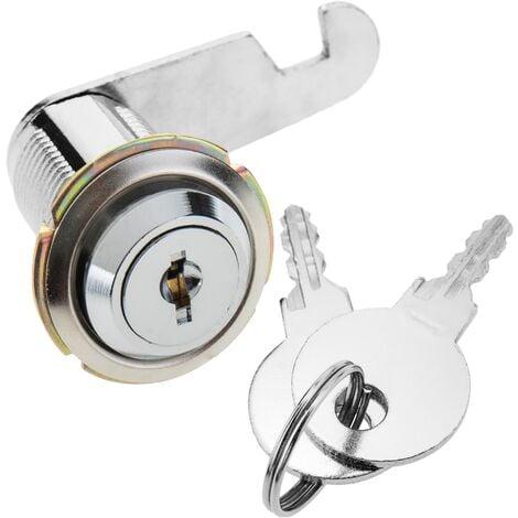 PrimeMatik - Serrure à came batteuse barillet 37mm x M18 avec clé plat