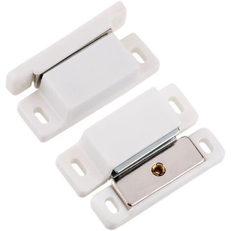 PrimeMatik - Serrure magnétique de porte en blanc