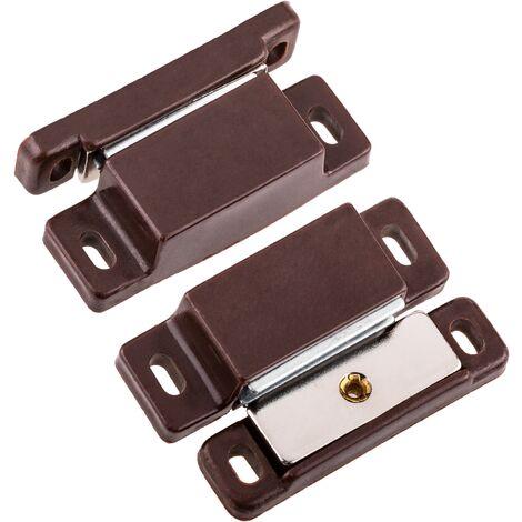 PrimeMatik - Serrure magnétique de porte en marron