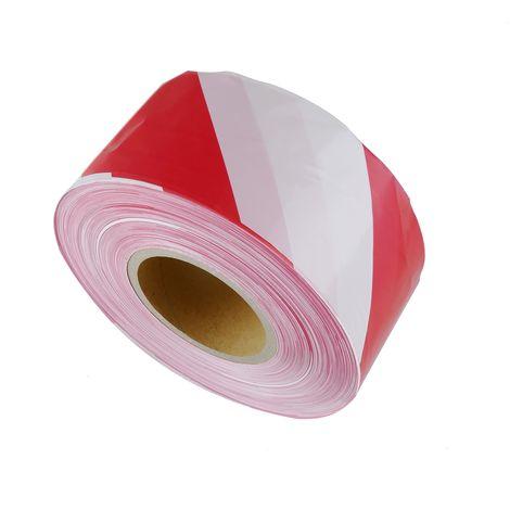 PrimeMatik - Signaling caution tape red white 500m 75mm