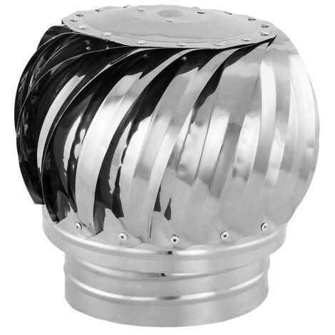 PrimeMatik - Sombrero extractor de humos galvanizado giratorio para tubo de 160 mm de diámetro