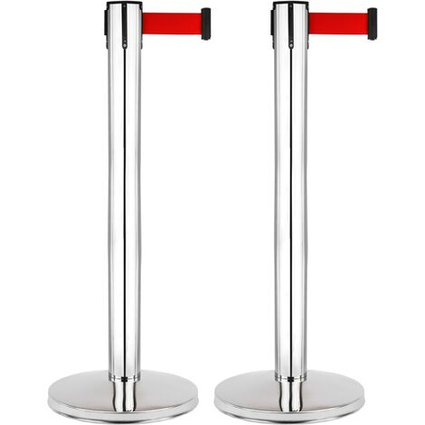 PrimeMatik - Spacer post 2 pcs stainless steel with 5m extensible tape 350 x 76 x 910 mm
