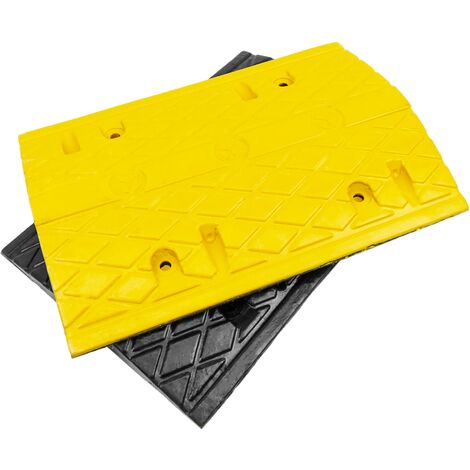 PrimeMatik - Speed bump ramp traffic for cars 500x340x50mm 2-pack