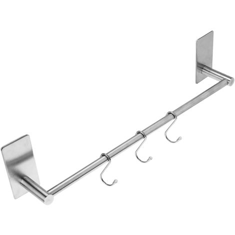 PrimeMatik - Stainless steel towel bar for bathroom