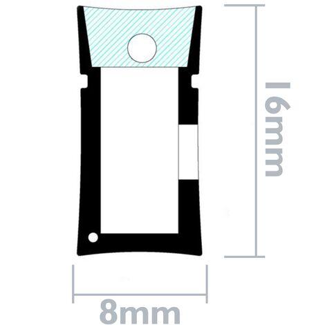 PrimeMatik - Striscia flessibile LED Neon Flex LNF 16x8mm 220VAC 5m rosso - NL00300