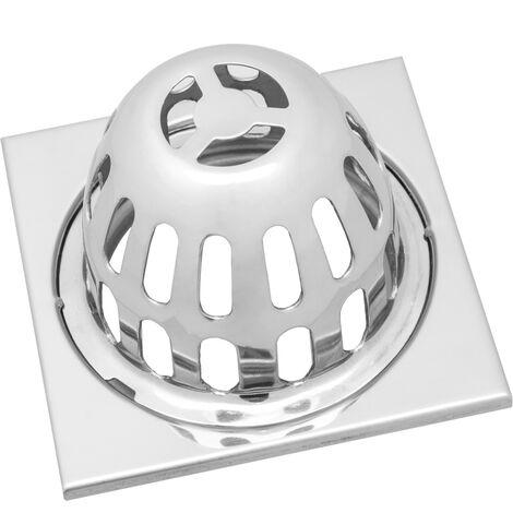 """main image of """"PrimeMatik - Sumidero 10x10cm con rejilla alta extraíble de acero inoxidable brillante"""""""