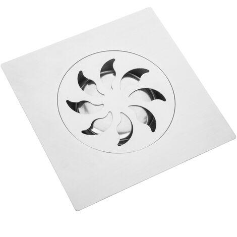"""main image of """"PrimeMatik - Sumidero 15x15cm con rejilla y capó extraíble de acero inoxidable mate"""""""