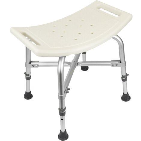 PrimeMatik - Taburete de ducha ergonómico antideslizante regulable en altura reforzado