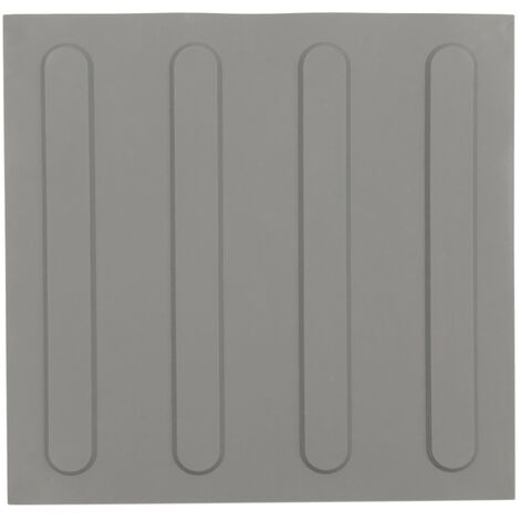 PrimeMatik - Tactile paving floor tile for blind people 25x25cm with advance lines gray 10-pack