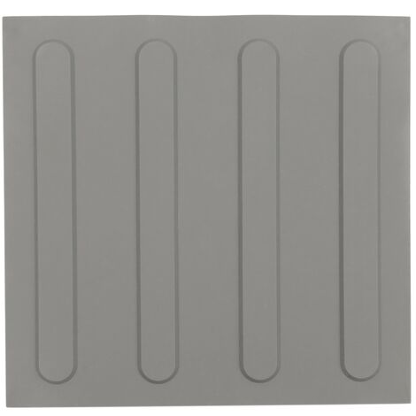 PrimeMatik - Tactile paving floor tile for blind people 30x30cm with advance lines gray 10-pack