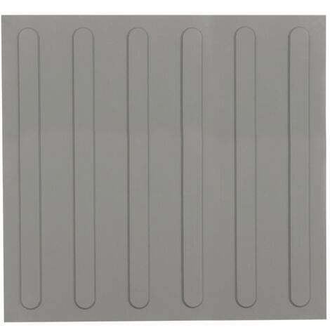 PrimeMatik - Tactile paving floor tile for blind people 40x40cm with advance lines gray 10-pack