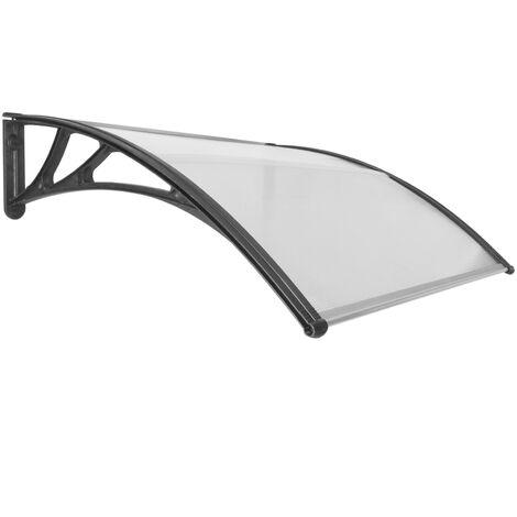 PrimeMatik - Tejadillo de protección 120x100cm Marquesina para puertas y ventanas negro