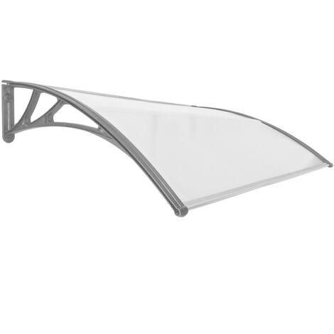 PrimeMatik - Tejadillo de protección 150x100cm Marquesina para puertas y ventanas gris