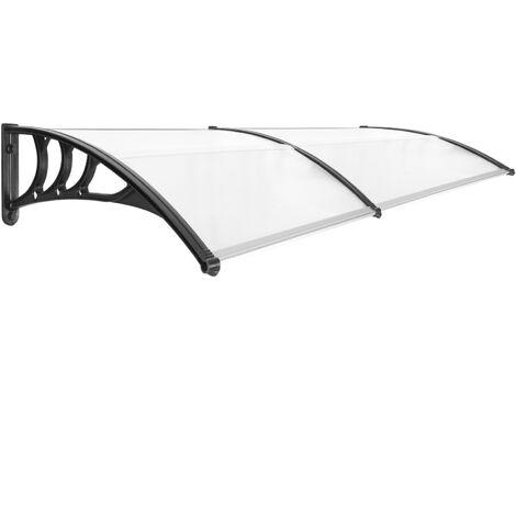 PrimeMatik - Tejadillo de protección 200x80cm Marquesina para puertas y ventanas negro