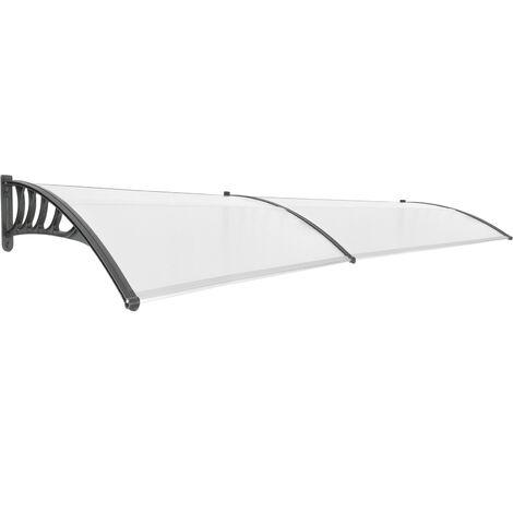 PrimeMatik - Tejadillo de protección 300x90cm Marquesina para puertas y ventanas negro