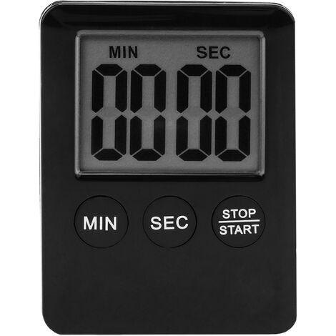 PrimeMatik - Temporizador de cocina magnético. Control de tiempo digital de color negro