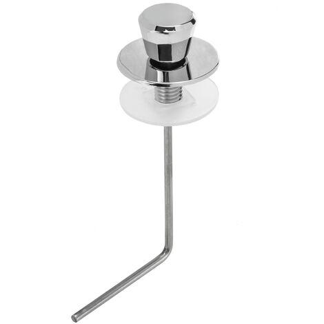 PrimeMatik - Tirador de cisterna WC curvo para tanque bajo
