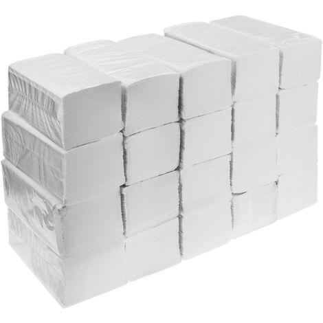 PrimeMatik - Toallas de papel secamanos doble capa plegado zig zag Caja de 4000 uds