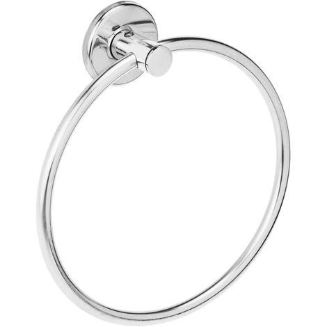 PrimeMatik - Toallero de anilla cromado para baño