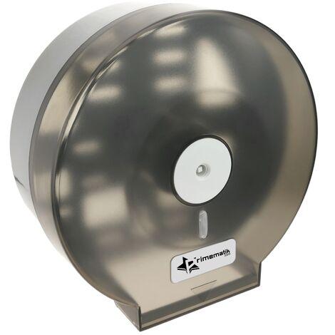 PrimeMatik - Toilet roll paper dispenser. Black industrial roll holder for rest room 268x123x273mm