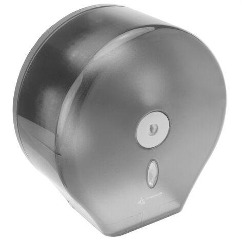 PrimeMatik - Toilet roll paper dispenser. Black industrial roll holder for rest room 268x130x280mm