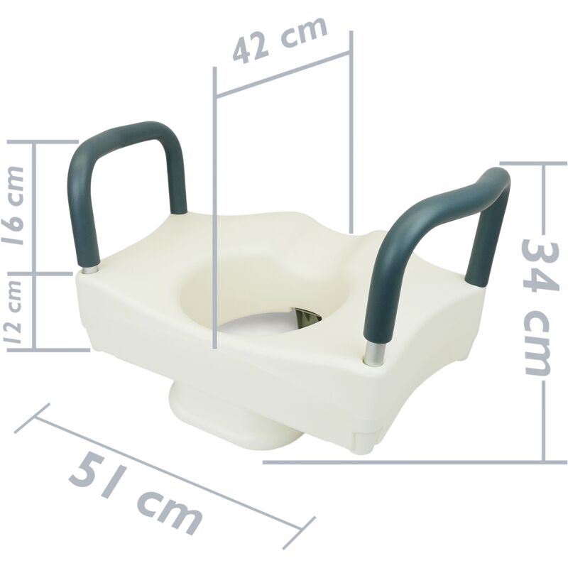Toilet seat riser with armrest for WC and and bathroom PrimeMatik