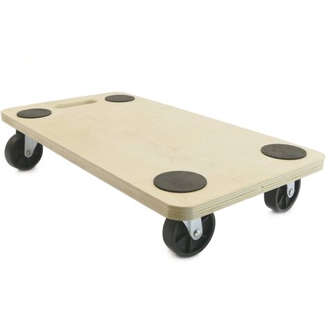 PrimeMatik - Transport roller platform dolly with wheels 560 x 290 mm