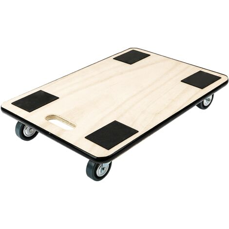 PrimeMatik - Transport roller platform dolly with wheels 600 x 400 mm