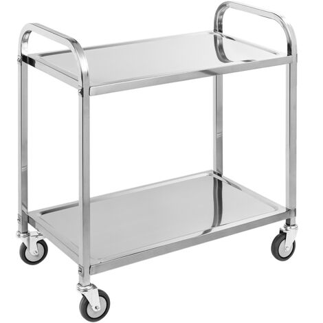 PrimeMatik - Transport trolley cart with 2 trays 85 x 45 x 90 cm