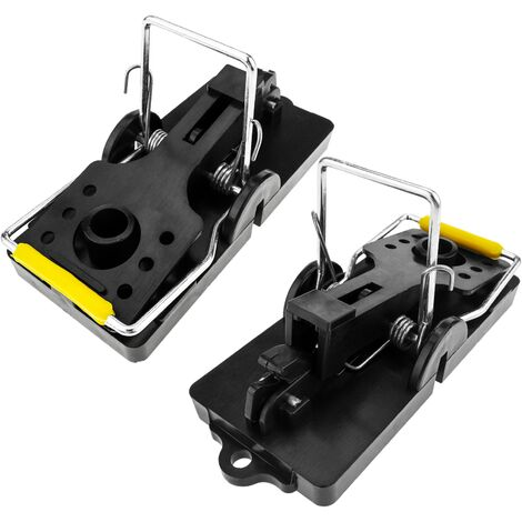 PrimeMatik - Trap for mice and small rodents metal clamp pack of 2 units 50 x 114 x 60 mm