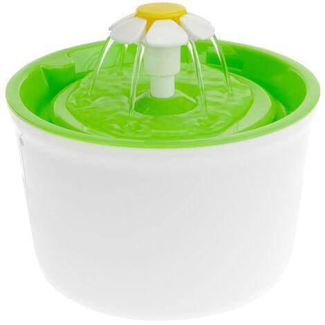 PrimeMatik - Trinkbrunnen Wasser schüssel für Hunde und Katzen 2.5L grün. Wasserspender für Haustiere
