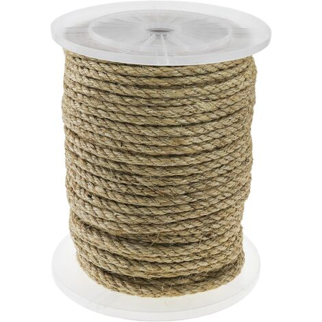 PrimeMatik - Twisted sisal rope 3 strands 100 m x 10 mm natural