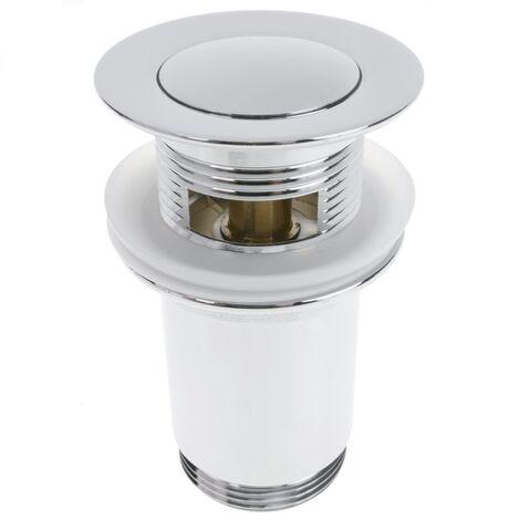 PrimeMatik - Universal Ablaufgarnitur 9cm. Pop Up Ablaufventil für Waschbecken Abflussgarnitur G1-1/4 verchromt