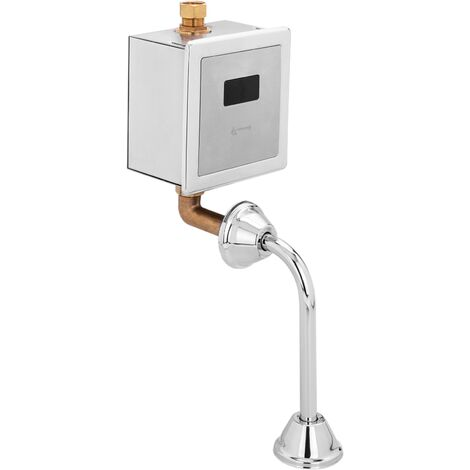 PrimeMatik - Válvula de descarga automática por infrarrojos para inodoro WC con entrada de agua vertical