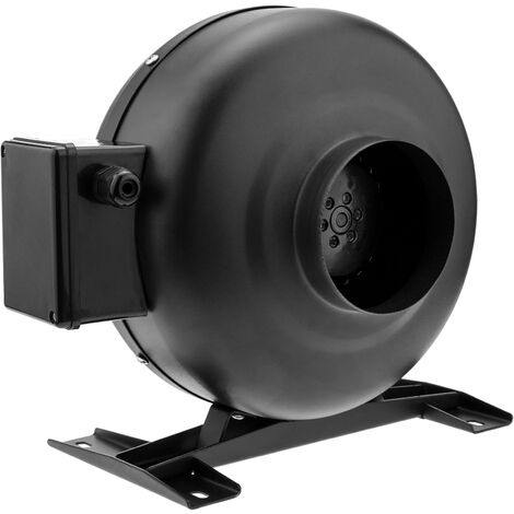 PrimeMatik - Ventilador de tubo de 100 mm. Extractor de conducto en línea para la ventilación industrial