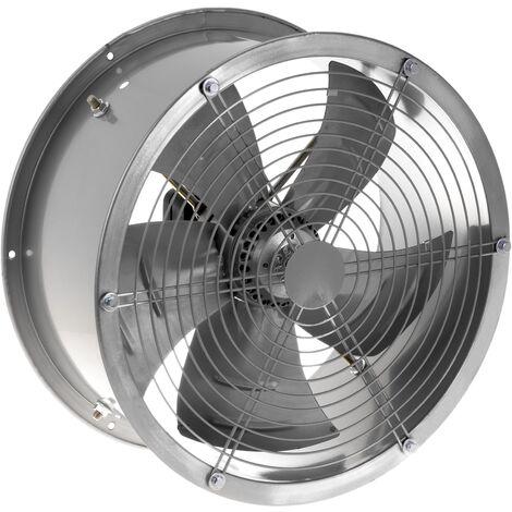 PrimeMatik - Ventilateur d'extraction à tube de 400 mm pour ventilation industrielle 1360 tr / min rond 470x470x210 mm argent