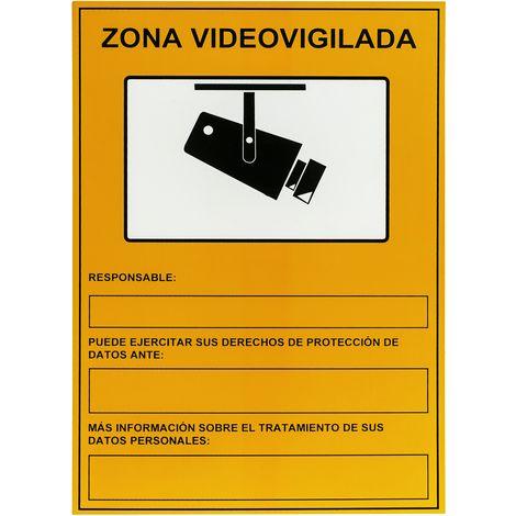 PrimeMatik - Video surveillance zone poster 21 x 29 cm. CCTV recording informational signal