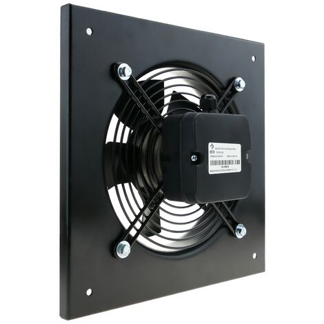 PrimeMatik - Wall air extractor of 200 mm for industrial ventilation 2550 rpm square 310x310x48 mm