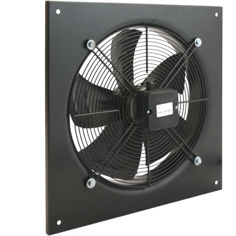 PrimeMatik - Wall air extractor of 400 mm for industrial ventilation 1360 rpm square 540x540x80 mm