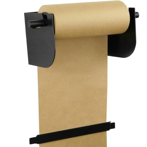 PrimeMatik - Wallmount roll holder. Dispenser of wrapping paper in coils up to 12 inches (31 cm)